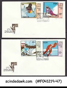 LAOS - 1988 WINTER OLYMPIC GAMES CALGARY - SET OF 2 FDC