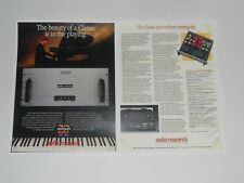 Audio Research Classic 120 Audiophile Power Amp Ad 1990, 2 Pages Article, Specs
