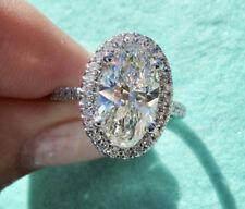 3.27__ GIA___Certified Oval Diamond Ring Center 2.57 J Vs1 Clarity __WOW HER!