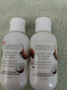 2 Physicians Formula Coconut Milk Eye Makeup Removers (2 Fl Oz)- Normal/Dry Skin
