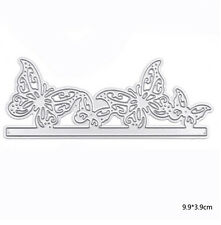 Metal Silver Butterfly Cutting Dies Stencil DIY Scrapbooking Album Paper Card