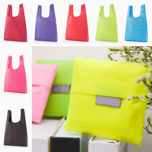 Solid Color Foldable Shopping Bag Tote Oxford Fabric Large Capacity Shopping Bag