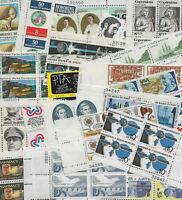 1970s Plate Block Collection. 25 different Commemoratives F-VF NH. FREE SHIPPING