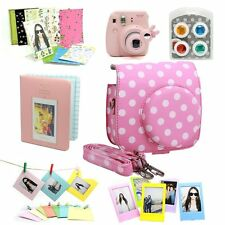 7 in 1 Fujifilm Instax Mini 8 Instant Film Camera Accessories Bundles Set Pink