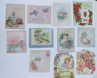 11 Unused Mid Century Greeting Cards Get Well / Cheer Art Scrapbook Ephemera