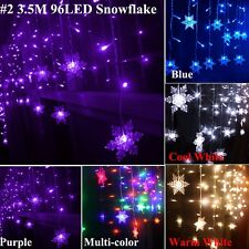 LED String Lights Icicle Hanging Curtain Wedding Christmas Fairy Home Shop Decor