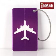 Luggage Tag Aluminium Travel Baggage Suitcase Identity Address Name Label Purple
