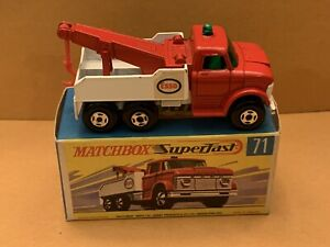 Vintage Matchbox Superfast No. 71 Wreck Truck With Box