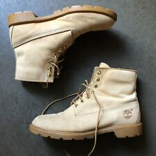 "Men's Vintage Timberland USA 6"" Suede Wheat Nubuck Work Ankle Lace Boots Sz 11"