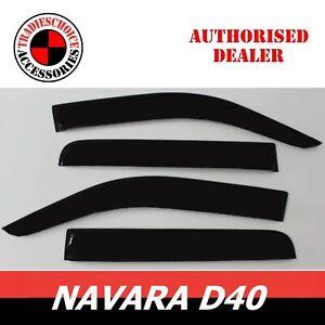Weather Shield Weathershields for Nissan Navara D40 Door Window Visors 2006-2014