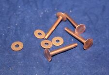 "Copper Rivets and Burrs - #9 - 1 1/4"" - Quantity of 12 (F194)"