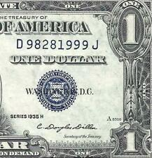 New Listing1935H $1 Blue Seal Silver Certificate Crisp Uncirculated! Old Us Paper Money!