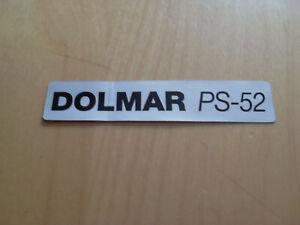 Original Aufkleber Dolmar PS-52 (980114383)