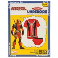 Mens Marvel DEADPOOL UNDEROOS Underwear Tshirt & Brief Set Size - M or L