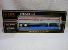 K-LINE O SCALE PROVIDENCE & WORCESTER FLAT CAR W/ BAR BANGOR PIGGYBACK TRAILER