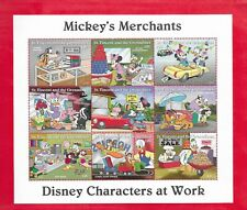 Mickey'S Merchants Disney Characters at Work Sheet of 9 Stamps St. Vincent #2247