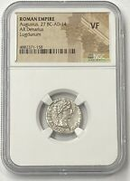 Augustus 27 BC-AD 14 Silver Denarius Gaius & Lucius NGC VF #2 of Twelve Caesars