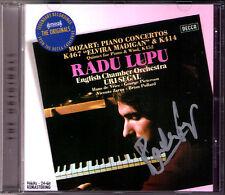 Radu LUPU Signiert MOZART Piano Concerto No.12 & 21 Quintet K.452 Uri SEGAL CD