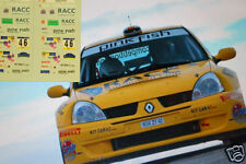 "DECAL CALCA 1/43 RENAULT CLIO S1600 ""RACC"" X. PONS RALLY CATALUNYA 2004"