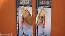 2 x JAXON SPINNER CLASSIC FLASH L GOLD 10g,6g