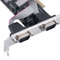 RS232 9 PIN Ports Serial PCI Expansion Card Adapter For Windows 7