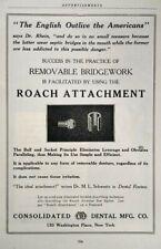 1917 Roach Attachment Antique Dental Equipment Art Vintage Print Ad