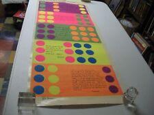 "Rita Hermann Vintage Poster Silk Screen Process Circa 1970's 45"" X 17 1/2"""