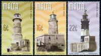 Malta Architecture Stamps 2001 MNH Maltese Lighthouses St Elmo Lighthouse 3v Set
