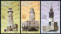 Malta Architecture Stamps 2001 MNH Maltese Lighthouses St Elmo Lighthouse 3v Set