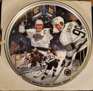 Great Moments In Hockey Wayne Gretzky Historic 802nd Plate COA Limited Edition