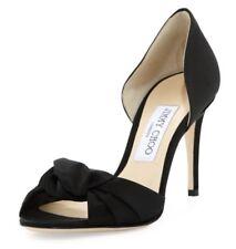 New Women's Jimmy Choo Kitty 85 Satin Sandals Heels, EUR Size 39, US Size 9