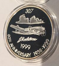 307 Stratoliner 1999 Boeing Coin Club 1.5 Troy Oz .999 Fine Silver Proof Round