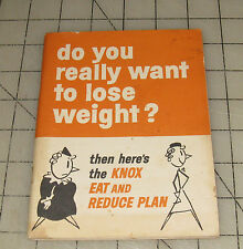 """Vintage KNOX GELATINE """"Do You Really Want To Lose Weight"""" Promotional Booklet"""