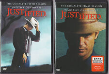 JUSTIFIED SEASON 5 & 6 DVD TV SERIES  XTRA FEATURES! (2,3 DISC SETS).,,