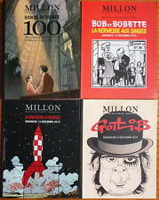4 catalogues vente MILLON planches originales Tintin Hergé Gotlib Moebius