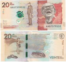 A SAISIR     BILLET  DE  20 000    PESOS    2015   COLOMBIE   NEUF  /  UNC