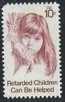 US Scott #1549, Single 1974 Retarded Children 10c FVF MNH
