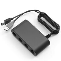 Video Gamecube Controller Adapter Wii U PC Nintendo Switch 4 Port Converter Plug
