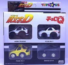 JAPAN TOYSRUS TOMY CHORO Q INITIAL D AE86 TRUENO GT-R R32 FC3S FD3S RX-7 CAR SET