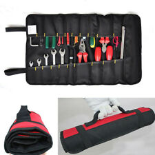 Car Hardware Tool Roll Plier Screwdriver Spanner Case Pouch Red Bag Reels Pocket