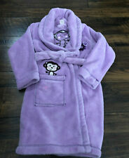 SO Purple Monkey Flowers Kid's Girl's 6 HouseCoat Bath Robe Flame Resistant