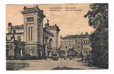 ALTE ANSICHTSKARTE VOM BAHNHOF SAARBRÜCKEN HAUPTBAHNHOF/CA.1910