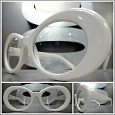 Men or Women VINTAGE RETRO Style Clear Lens Eye Glasses White Oval Fashion Frame