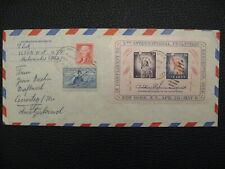 5th International Philatelic Exhibition, Souvenir Sheet US On Envelope