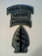 Special Forces ACU Patch Special Forces Ranger Airborne Tab's w/fastener