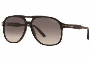 Tom Ford Raoul TF753 53F Sunglasses Men's Shiny Black/Smoke Gradient Lenses 62mm
