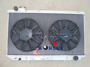 For LEXUS GS300 / TOYOTA ARISTO 2JZGE 1993-1997 Aluminum Radiator + Fans