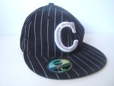 Chicago Hat Black Pinstripe L 7 1/2 Fitted Baseball Cap