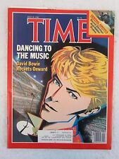 "DAVID BOWIE Cover TIME Magazine July 18, 1983 ""DAVID BOWIE ROCKETS ONWARD"""