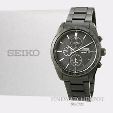 Authentic Seiko Men's Essentials Solar Chronograph Stainless Steel Watch SSC721